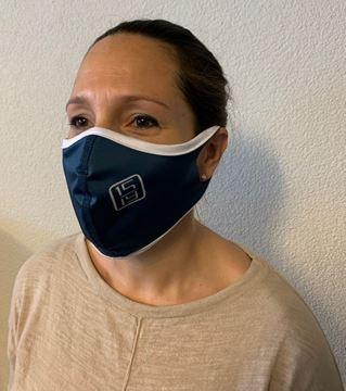 Bild von Gesichtsmaske Polyester blau