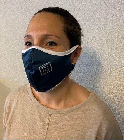 Bild von Gesichtsmaske Polyester blau 3er-Pack